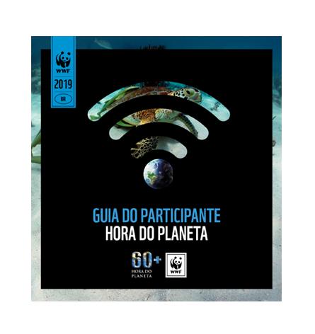 Imagem alternativa com os dizeres: guia do participante. Hora do Planeta