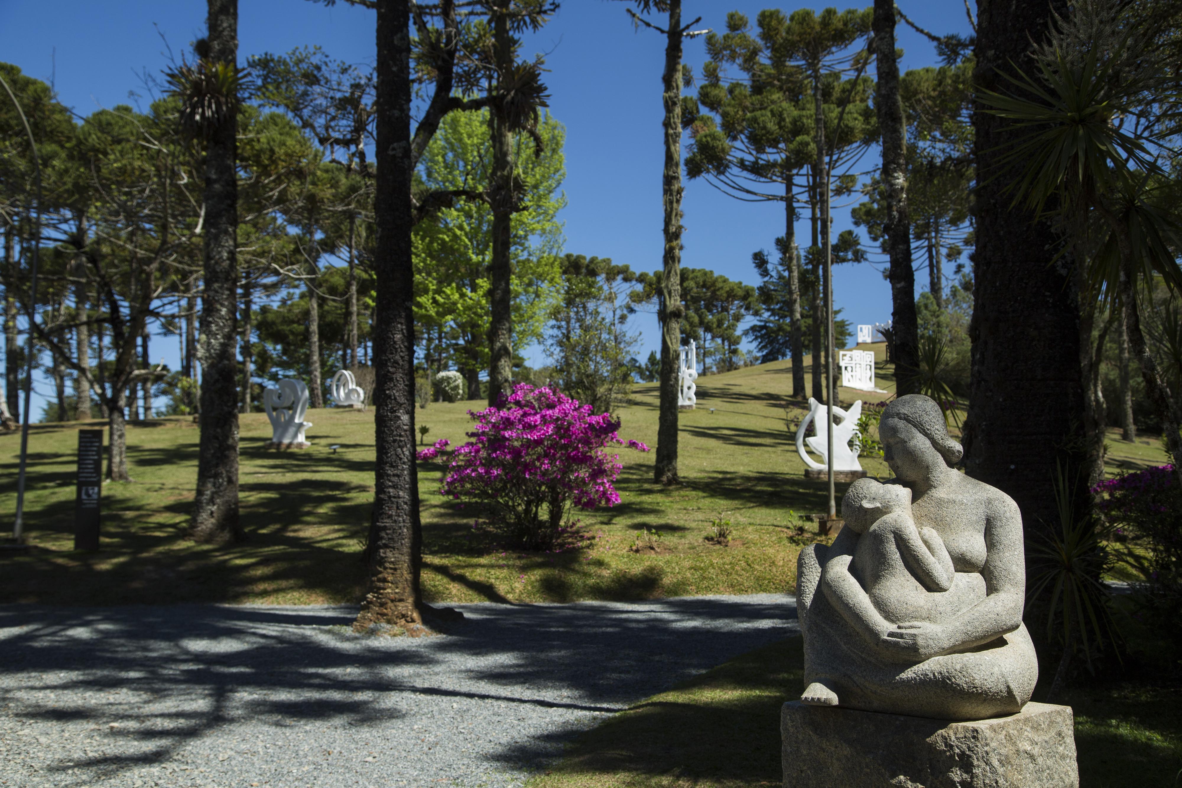 Jardins de esculturas do Museu Felícia Leirner